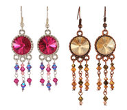 Different Earrings Stock Photo