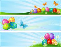 Different Easter banners Royalty Free Stock Image