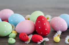 Different Easter eggs Royalty Free Stock Photos