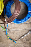 Different electric cables Royalty Free Stock Image