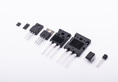 Different electronic components Royalty Free Stock Photo