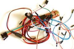 Arduino electronic elements royalty free stock photo