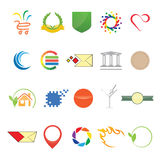 Different elements for logo and web Stock Photography