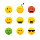 Different emotion faces. Collection of different emotion faces Stock Photo