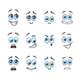 Different emotions with blue eyes Stock Photos