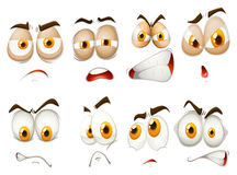 Different emotions of facial expression Royalty Free Stock Photo