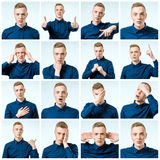 Different emotions and gestures Royalty Free Stock Images