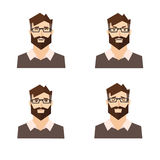 Different Emotions Man. Vector Royalty Free Stock Photos
