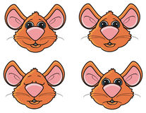 Different emotions mice Royalty Free Stock Photography