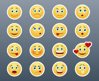 Different emotions smileys Stock Image