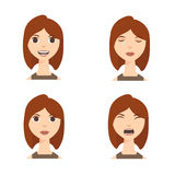 Different Emotions. Vector Royalty Free Stock Photos
