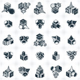Different engineering constructions collection, abstract vectors Stock Images