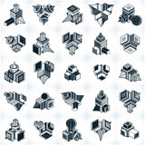 Different engineering constructions collection, abstract vectors Royalty Free Stock Images