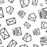 Different envelope black icons on white background Stock Photo