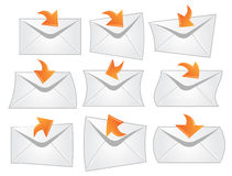 Different envelopes Royalty Free Stock Photo