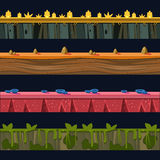 Different Environments Platformer Level Floor Design Set Stock Photo