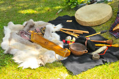 Different etnic music instruments Stock Photo