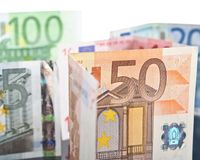 Different euro banknotes Royalty Free Stock Image