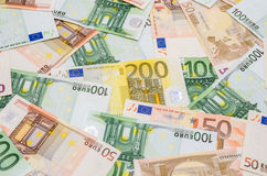 Different Euro banknotes Royalty Free Stock Images