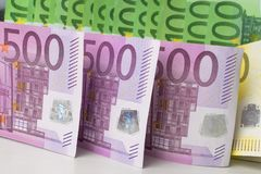 different euro banknotes cash royalty free stock photos