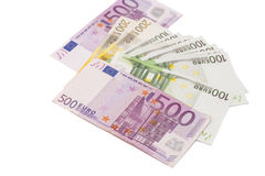 Different Euro banknotes Royalty Free Stock Photo