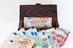 Different euro banknotes Stock Images