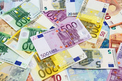 Different Euro banknotes Stock Image