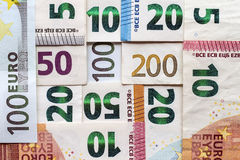 Different Euro bills money for background Royalty Free Stock Photography