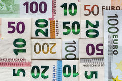 Different Euro bills money for background Stock Image