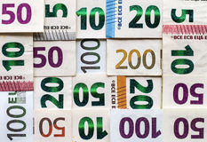 Different Euro bills money for background Stock Photography