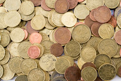 Different euro currency coins royalty free stock images
