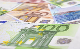 Different euro notes as background Stock Photo