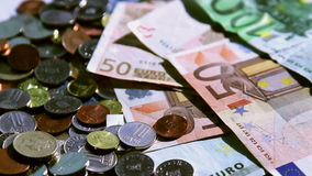 Different european currencies Stock Photography