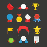 Different events flat icons set Royalty Free Stock Photography