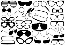 Different Eyeglasses Stock Photography