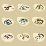 Different eyes Stock Photo