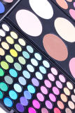 Different eyeshadows palettes Royalty Free Stock Photos