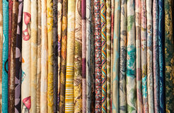 Different fabrics Royalty Free Stock Photos