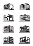 Different facades of buildings Royalty Free Stock Photo