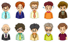 Different faces of businessmen Royalty Free Stock Images