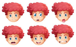 Different facial expressions Royalty Free Stock Image
