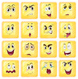 Different facial expressions Stock Image