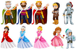 Different fairytales characters on white background Stock Image
