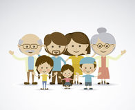 Different families. Over gray background vector illustration royalty free illustration