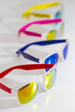 Different fashion eyewear on a white background Royalty Free Stock Photo