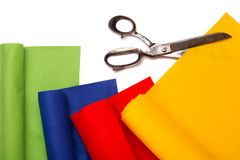 Different felt rolls Royalty Free Stock Images