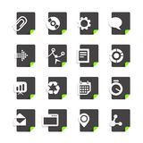 Different file types icons. Set isolated on white Royalty Free Stock Photography