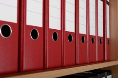 Files in office cupboard Royalty Free Stock Photography
