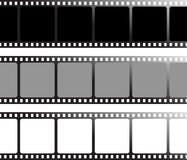 Different film. Three variation of drawn film that can be used as a place holder vector illustration