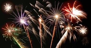 Different fireworks Royalty Free Stock Photography